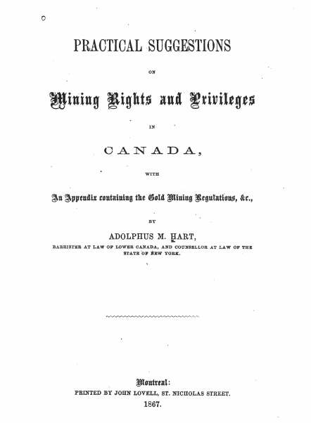 Hart 1867 cover