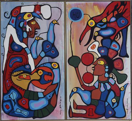 norval-morrisseau-the-storyteller-the-artist-and-his-grandfather-kw