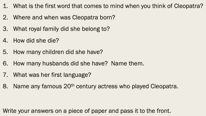 Who Was Cleopatra